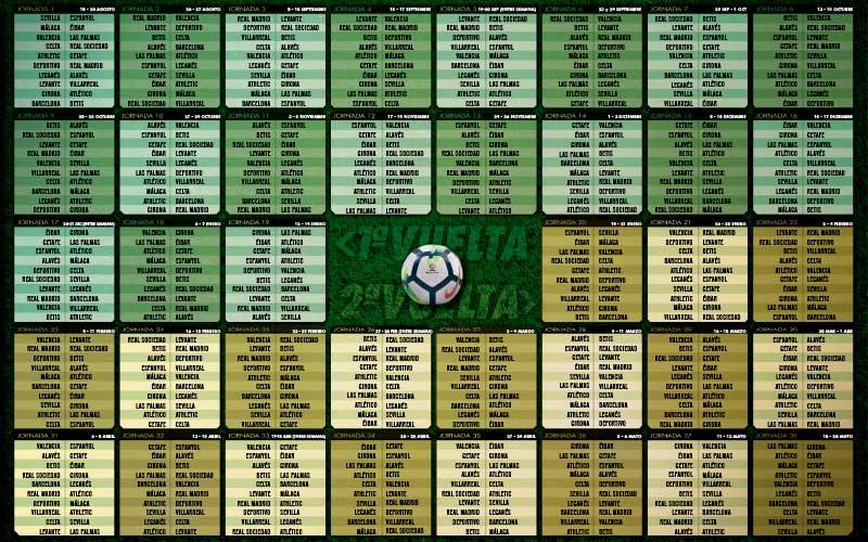 Calendario de Liga Temporada 17/18