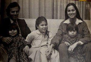 La familia de Julio Iglesias e Isabel Preysler