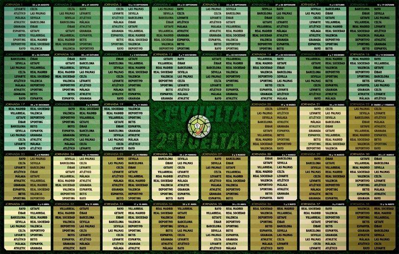 Calendario Liga 2015-2016
