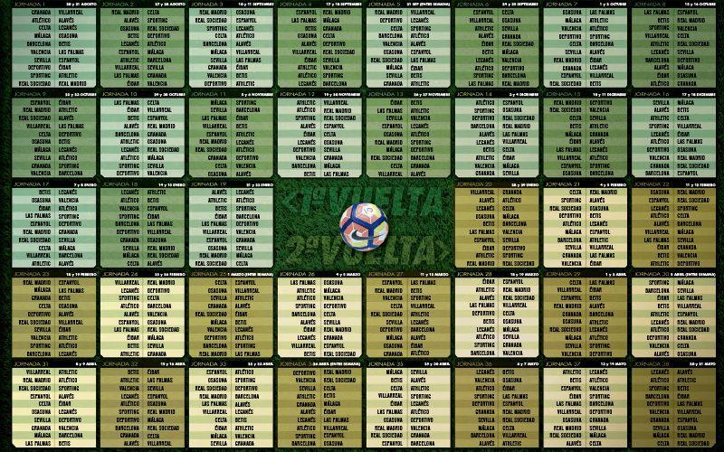 Calendario de Liga Temporada 16/17